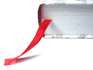 book and red bookmark